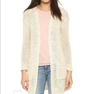 Free people ivory sweet sienna knit long cardigan